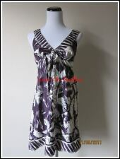SALE PURPLE V Neck Cleavage Floral Bow Empire Cocktail Wedding Hawaiian Dress