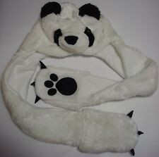 Kids panda/rabbit hat with attached mittens/scarf, animal hat, 3-8 years old