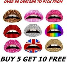 TEMPORARY LIP TATTOO STICKER TRANSFER TATTOOS FANCY DRESS HEN NIGHT
