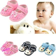 New Cute Newborn baby girls boys  toddler shoes kids first walkers 1-12 month