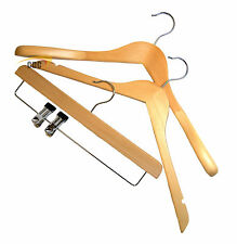Wooden Strong Coat Hangers, Quality Adults & Kids Clothes Hangers