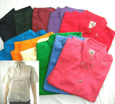 SALE!! NEW DICKIES Women's 100% Cotton Button Down SHIRT TOP - COLORS