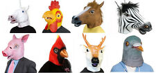 Horse Unicorn Cardinal Pig Pigeon Latex Head Mask Theatre Prop Halloween Party