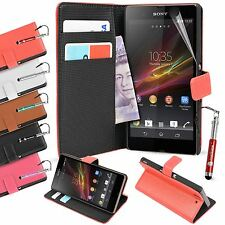 Brand New Premium PU Flip Leather Stand Case Cover for Sony Xperia Z1 i1