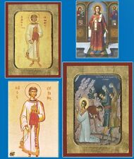 Orthodox Byzantine Hand Made Wooden Icons Of Saint Stephen - Agios Stefanos