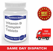 Vitamin B Complex Tablets - Boost Immune System  - Free UK Post, Hawthorn Health
