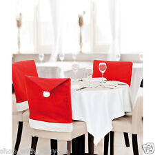 SANTA HAT DINING CHAIR COVERS - CHRISTMAS PARTY COVER / DINNER TABLE DECORATION