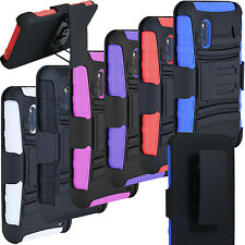 NEW RUGGED HYBRID HARD CASE COVER BELT CLIP HOLSTER FOR HTC EVO DESIGN 4G SPRINT