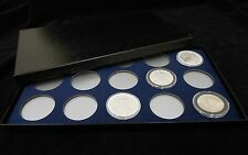 Display Box for Coins in AirTite Capsule Holders 15 I Blue SILVER EAGLE MORGANS