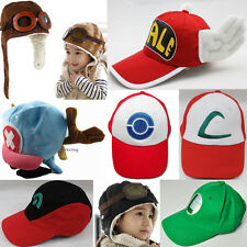 Cool Pokemon Hat Ash Kids Boy Toddler Protect Cap Collect Anime Costume Cosplay