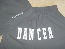 Personalized Black Shorts Dancer  Printed Butt shorts Ladies Adult Competition