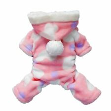 Adorable Pink Sweetie Dog Coat for Dog Hoodie Jumpsuit Soft Cozy Pet Clothes