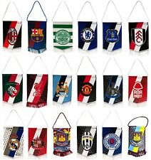 OFFICIAL FOOTBALL CLUB - MINI PENNANTS (New) - Hanging Car/Room Accessories