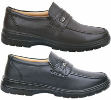 Mens New Black / Brown Light Weight Slip On Casual Comfort Shoes Free Uk Postage