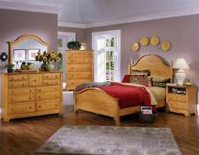 5 Pc Panel Bedroom Set in Pine Finish [ID 707624]