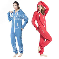 One Piece Jumpsuit Unisex Cute All In One Hooded Fleece New Nordic Way Romper