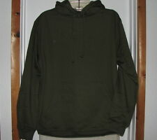 Anvil 8 oz. 50% ORGANIC COTTON  Pullover Hooded SWEATSHIRT Green