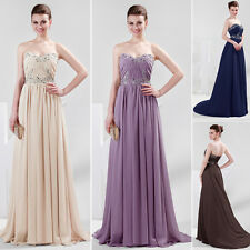 Cheap! Formal Chiffon Evening Ball Cocktail Prom Bridesmaid Gown Dresses Sz 2-16