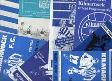 Kilmarnock HOME programmes mainly 1970's choose from list FREE UK P&P