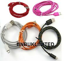 Fabric 3m extra long data 2 in1 sync + charger micro usb cables for mobile phone