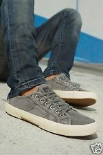 New Next Men`s or Older Boys Trainers Shoes Classic Pumps Washed Olive Khaki UK6