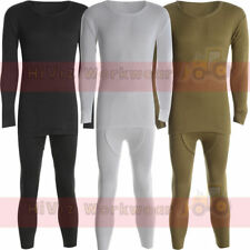 Thermal Full Long Sleeve Top & Long John Set Suit - Base Layer Heat Trap Fabric