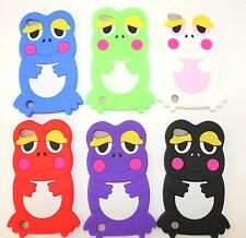 For iPod Touch 5th & 6th Gen - Soft Silicone Rubber Skin Case Cover 3D Cute Frog