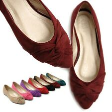 ollio Women's Ballet Loafer Shoes Faux Suede Bowed Comfort Multi Colored Flats