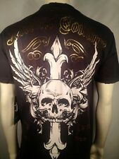 $30 XTREME COUTURE AFFLICTION WINGED CROSS W/ SKULL TATTOO MMA MENS T SHIRT L XL