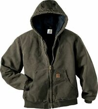Carhartt Sandstone Insulated Active Jacket J130 XL 2XL 3XL Quilted Flannel-Lined