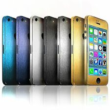 iPhone 5 and 5S S •Brushed Metal Edition• Full Body Wrap Decal Sticker 6 COLOR