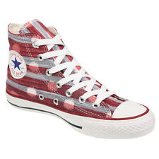 Converse Womens All Star Stripes 537070 HI Varsity Red Canvas Boots Shoes Size