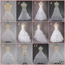 White A Line Hoop / Hoopless Bridal Petticoat Wedding Dress Crinoline Underskirt