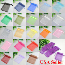 "4x6"" 50/100/200PCS Organza Gift Candy Bags Wedding Xmas Favor Jewelry Pouches"