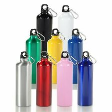 [ 12 Piece Bulk Package ] 25 oz Aluminum Water Bottle w/ Carabiner Clip