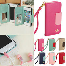 Fashion Wallet Card Holder Leather Flip Case Cover for Apple iPhone 4 4S 5 5C 5S