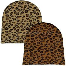 Leopard Print Beanie Knit Skull Cap Winter Ski Snow Toque Tuque Cheetah Animal
