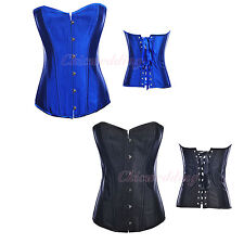 Royal Blue/Black Sexy Bridal Corset Bustier Lingerie Shapewear Waist Back Shaper