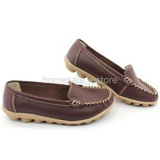 Women Mother Padded Leather Comfy Casual Bowed Loafer Moccasin Ballet Flat Shoes