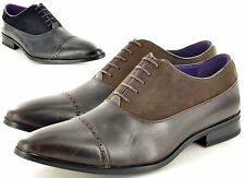 Mens Leather Lined Faux Suede Formal Lace Up Brogue Shoes UK Sizes 6 7 8 9 10 11