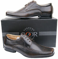 Mens New Brown Lace Up Leather Lined Formal Office Shoes Free UK Shipping