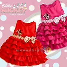 Kids Baby Girl Children Clothing Minnie Mouse Bow Tutu Princess Dress Size 2-6T