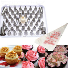 XMAS 52Pcs Icing Piping Nozzle Bag Cake Decorating Sugarcraft Pastry Tip Tool Se