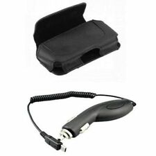 Premium Holder Case Pouch + Car Vehicle Adapter Charger for Tracfone Phones