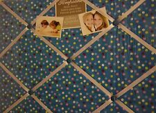 Blue / Pink French Padded Keepsake Picture Photo Memo Wall Message Fabric Board