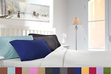 1800 COUNT PILLOW CASES - 2 PILLOWCASES PER SET - ALL SIZES AND 12 COLORS