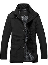 Classic Mens Winter Quilted Coat Windproof  Warm military Jacket Business Parka