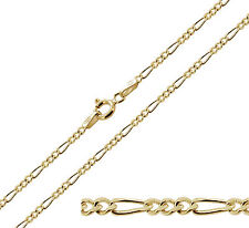 """375 Solid 9ct Gold 16 18 20 22 24 26"""" Inch 4mm Figaro Chain Necklace Bracelet"""