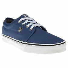 New Boys Fenchurch Blue Grind Canvas Trainers Lace Up