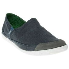 New Mens Cushe Blue Vinyl Canvas Shoes Elasticated